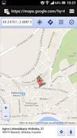 Screenshot of Brujula con localización GPS