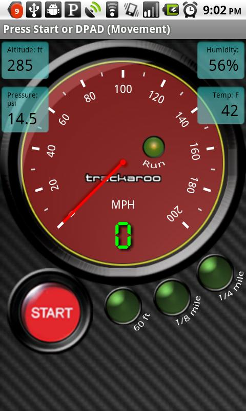 Red Speedo Dynomaster Layout - screenshot