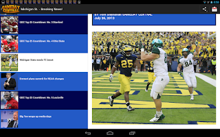 Screenshot of Gameday Central - NCAA News