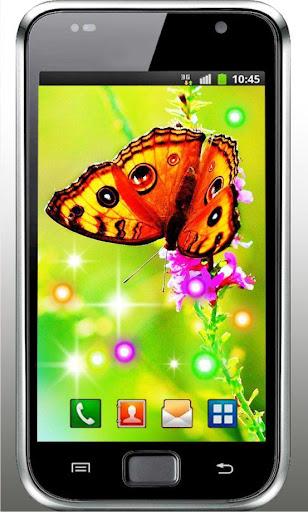 Butterfly n Flowers HD LWP