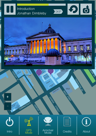 UCL Audio Tour- screenshot