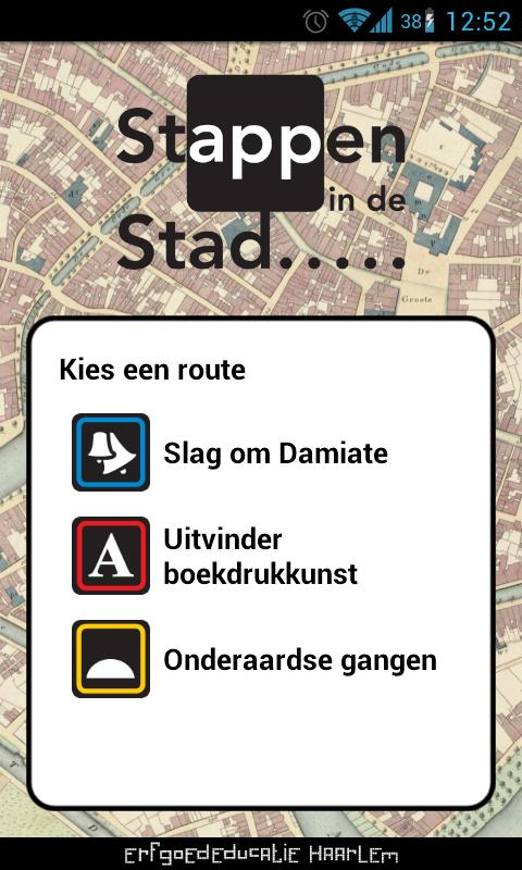 Stappen in de Stad- screenshot