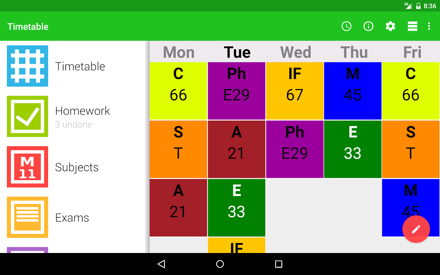 how to create a part-time study timetable