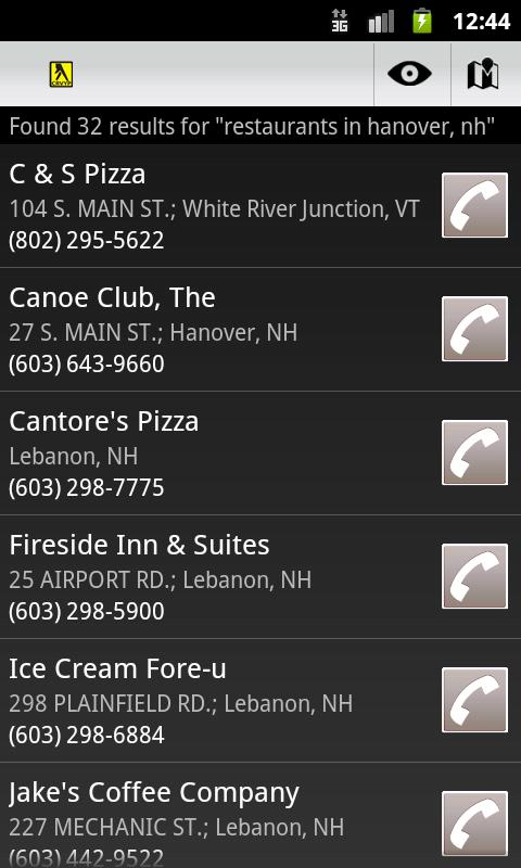 CRV Yellow Pages - screenshot