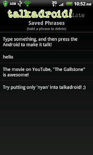 Talkadroid Lite- screenshot thumbnail
