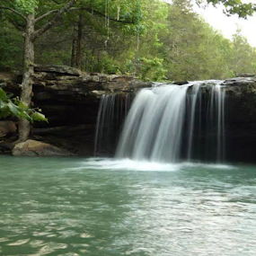 Falling Water Water Fall , Richland Creek by Wesley Nesbitt - Landscapes Waterscapes (  )