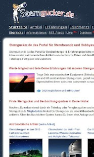 Sterngucker.de- screenshot thumbnail