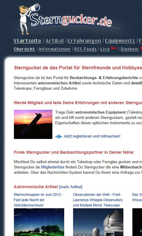 Sterngucker.de- screenshot