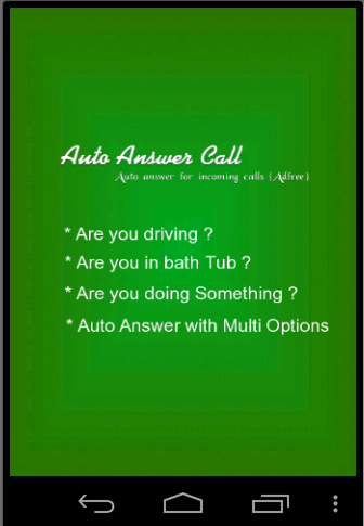 Auto Answer Call