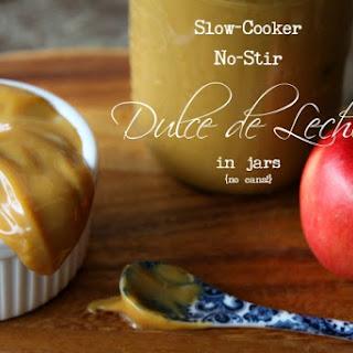 Slow-Cooker No-Stir Dulce de Leche in Jars {no cans}