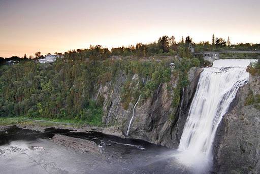 Montmorency-Falls-Quebec - The spectacular waterfall at Montmorency Falls, about seven miles from downtown Old Quebec City, Canada.