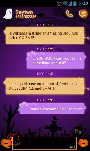 GO SMS Halloween Fright Theme