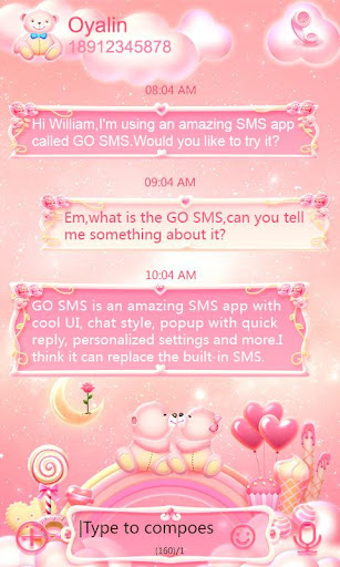 GO SMS Pro Bear Lovers Theme