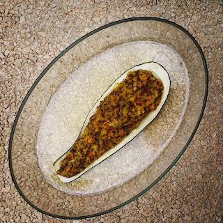 Vegetarian Stuffed Zucchinis.