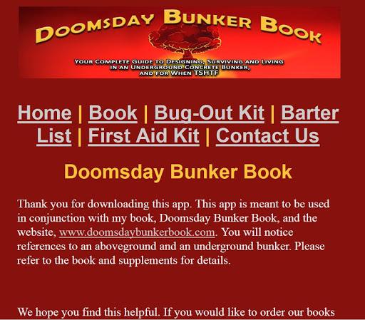 Doomsday Bunker Book App