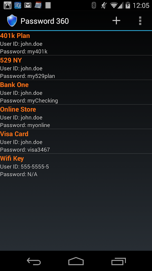 Password 360 - screenshot