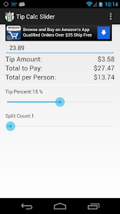 Tip Calc Slider - screenshot thumbnail