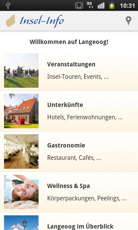 Langeoog-App - screenshot
