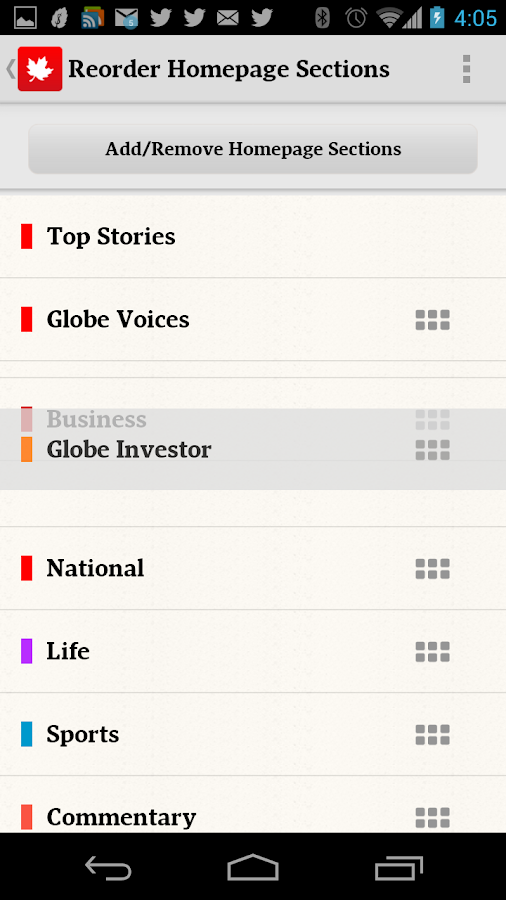 The Globe and Mail: News- screenshot
