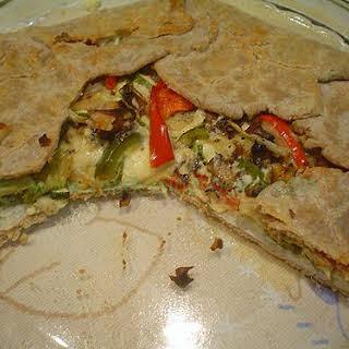 Rustic Feta and Vegetable Tart.