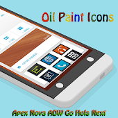OIL PAINT ICONS APEX/NOVA/ADW