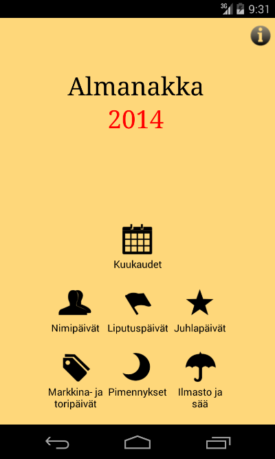 Almanakka 2014 - screenshot