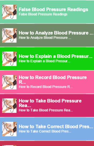 【免費書籍App】Blood Pressure Readings-APP點子