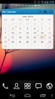 Screenshot of GO Calendar Widget