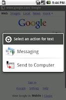 Screenshot of Send to Computer