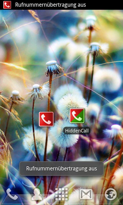 HiddenCall - hide your Number - screenshot
