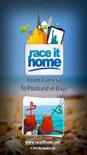 Race It Home : Send Postcards
