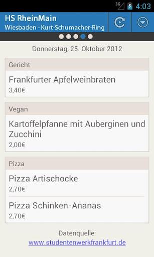 【免費生活App】Mensa HS RheinMain-APP點子