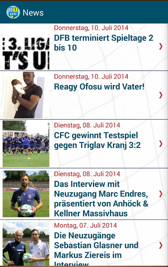 CFC-FanApp- screenshot