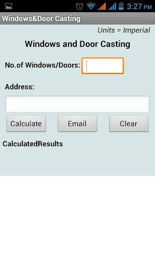 Windows DoorCasting Calculator