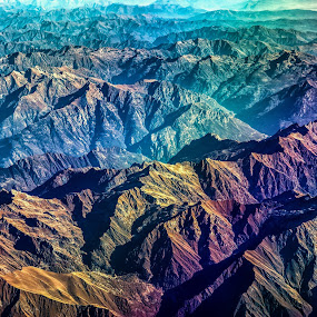 Psychedelic Alps by Nicola Scarselli - Landscapes Mountains & Hills ( mountains, colorful, from above, colorfull, alps )