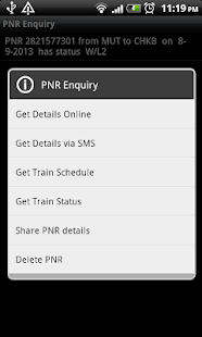 PNR Enquiry - screenshot thumbnail