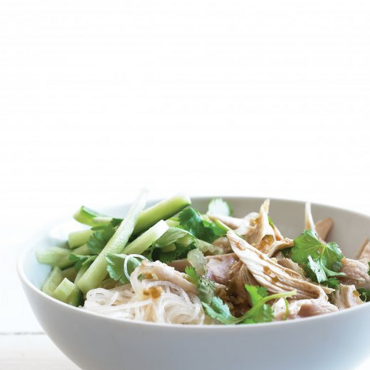 Asian Noodle Salad with Chicken and Cilantro Recipe