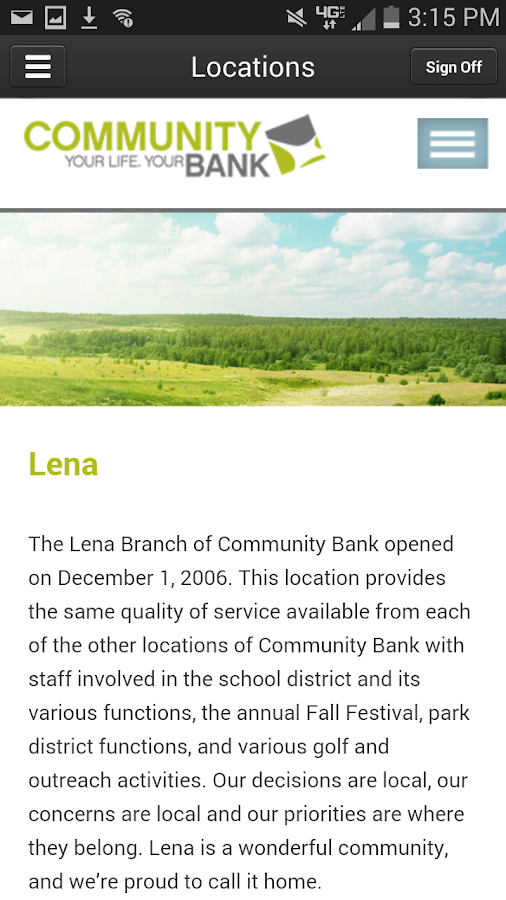 Community Bank Mobile Banking- screenshot