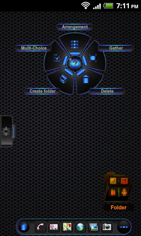 TSF Shell Theme Black On Black - screenshot
