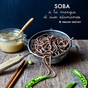 Mango and Edamame Soba Noodles with Tahini Sauce