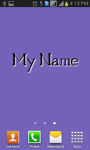 MyName Live Wallpaper screenshot