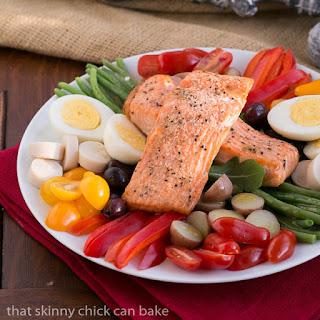 Salmon Salad Niçoise #SundaySupper