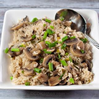 Baked Mushroom Rice Recipe