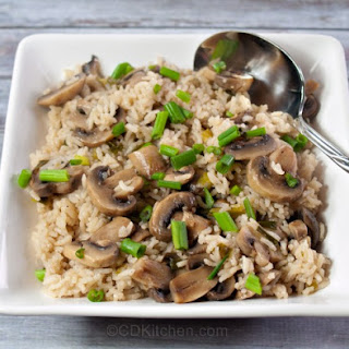Baked Mushroom Rice.