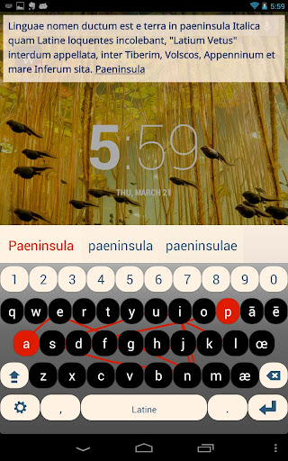 Latin Keyboard Plugin