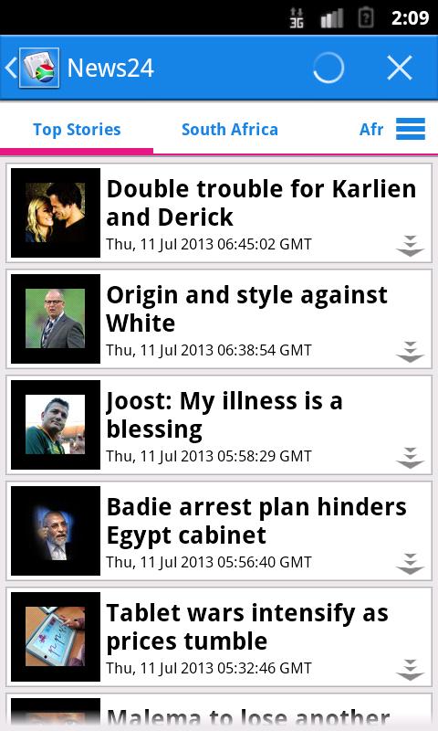 South Africa News - screenshot
