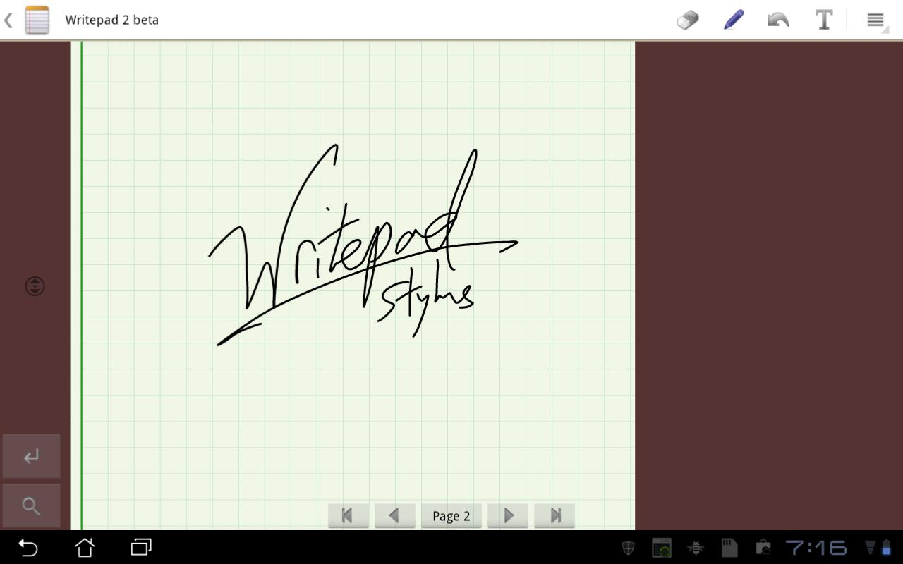 Writepad Stylus - screenshot
