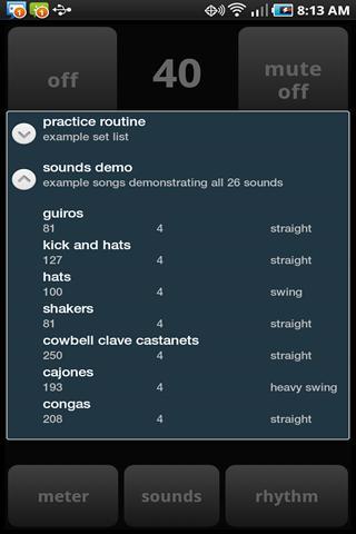 Metronome++- screenshot