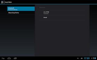 Screenshot of EasyTether Tablet