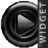 Poweramp widget Black Glow
